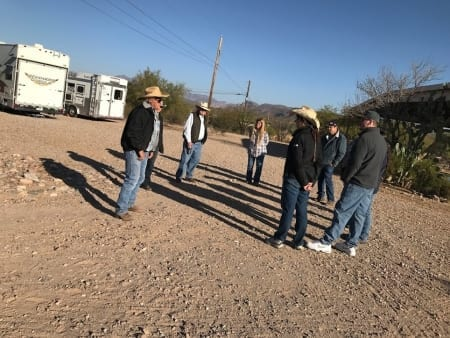 Queen Valley Mule Ranch Clinic Participants and Spectators